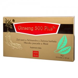 Ginseng 500 Plus  10 fiolek po 10 ml