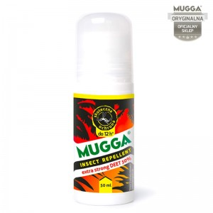 Mugga mleczko STRONG Roll-on 50% DEET na komary i kleszcze 50 ml