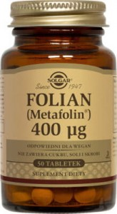 Folian(Metafolin) 400uq Solgar 50 tabletek