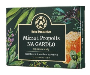 Mirra i propolis x12 tabletek Herbal Pharmaceuticals